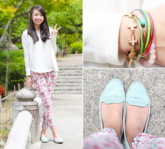 Sophie Ramos - The Fashion Republic Colorful Bracelets, Forever 21 Pink Cross Bracelet - Hohoemi!