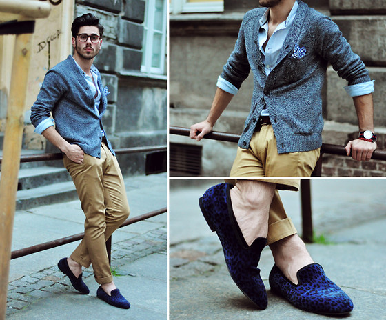 Lukas Maslowski - H&M Cardigan, H&M Trousers, Pull & Bear Shirt, H&M Loafers, Triwa Watch - #19