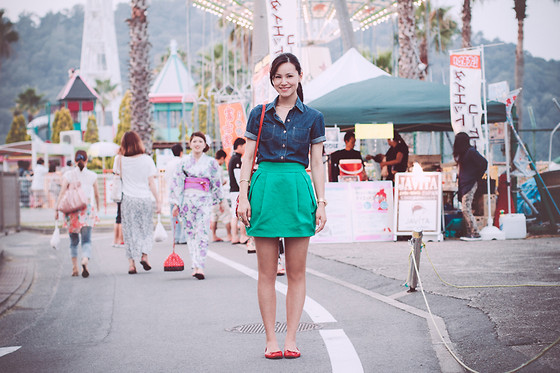 Ellen Kaminagakura - Zara Skirt, Arezzo Flats, Kenzo Bag - Floating Lanterns + {GIVEAWAY}