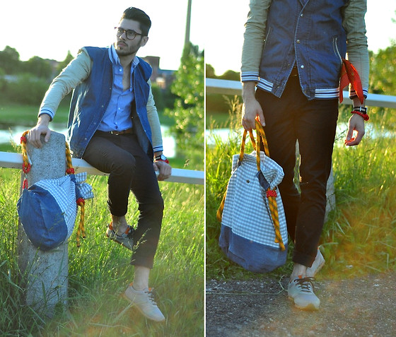 Lukas Maslowski - Sh Jacket, Diy Sailor Bag, Clae Shoes - #23