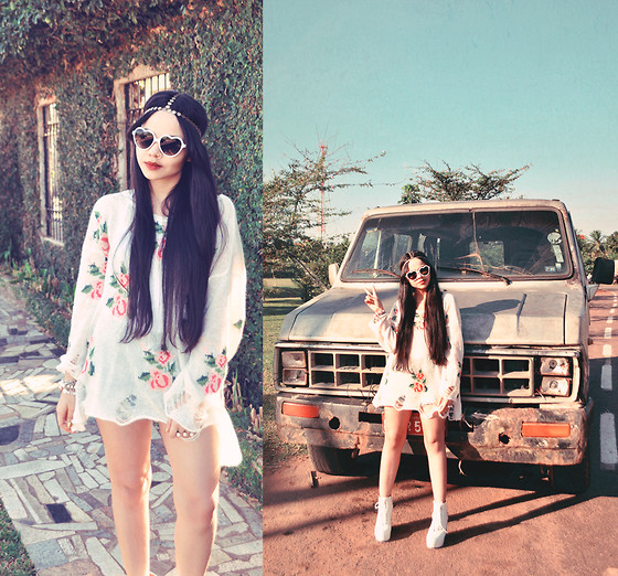 Clara Campelo - Romwe Top, Jeffrey Campbell Shoes, Sheinside She Inside Headband - Forever Boho