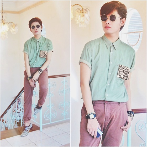 Rhonnel Tan Santos - Round Specs, Polo, Chinos - 082913