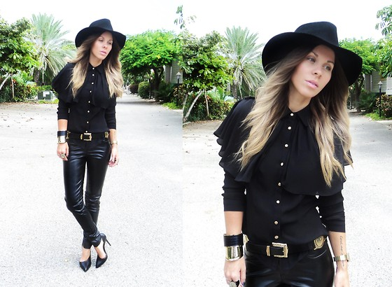 Katia Nikolajew - Bewolf Clothing Hat, Bewolf Clothing Blouse, Crave Pants, Zara Shoes - Time for leather...