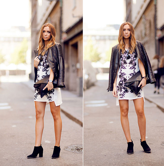 Lisa Olsson - Zara Boots, Stylestalker Dress, Zara Jacket, Frontrowshop Clutch - Asymmetric