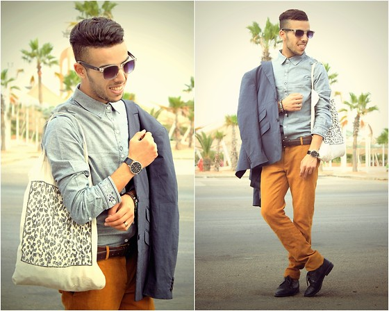 Faissal Yartaa - Rockartel Apparel, Zara  , Zara Blue, Rockartel Leather Bracelet - Most people walk in and out of your life, but only FRIENDS l