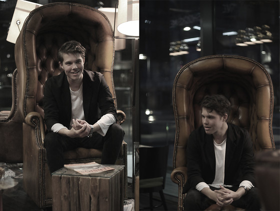 Andreas Wijk - Acne Studios Suit, Cos Sweater, Margiela Watch - Sit down with me