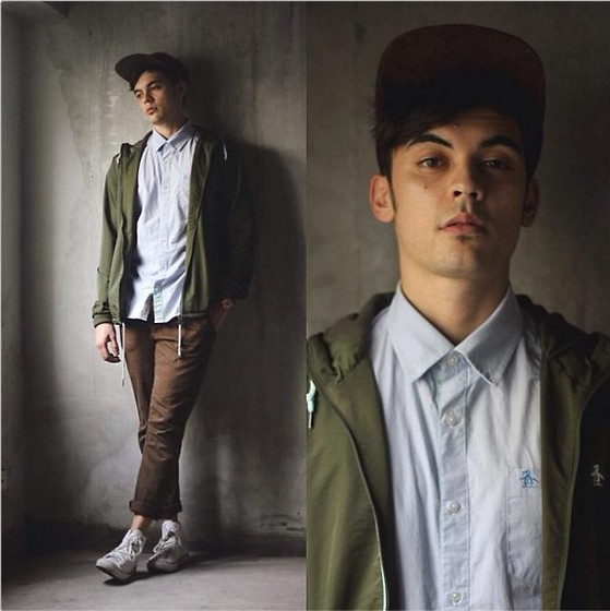 Robbie Becroft - Penguin Button Down, Converse Chucks, Penguin Jacket, Penguin Watch, Asos Cap - Raw Playground
