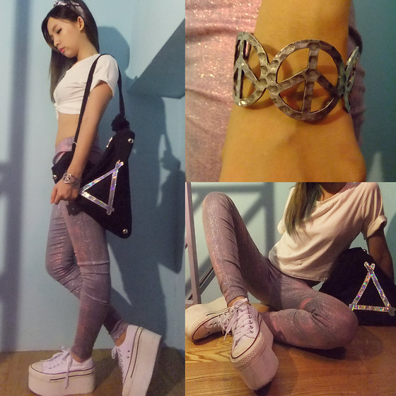 Zelia Su - Laser Triangle Bag, Peace, Playrough Coloring Legging, Short Top, Headband - MORE TALL