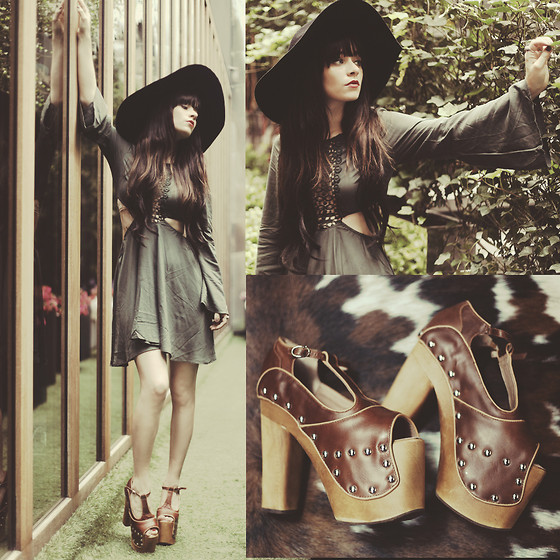 Rachel-Marie Iwanyszyn - Misskl Dress, Jeffrey Campbell Platforms, Lack Of Color Hat - DREAM DREAM DREAM.