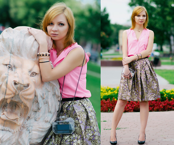 Svitlana L - Marni Skirt, Zara Clutch, H&M Top - 11092013