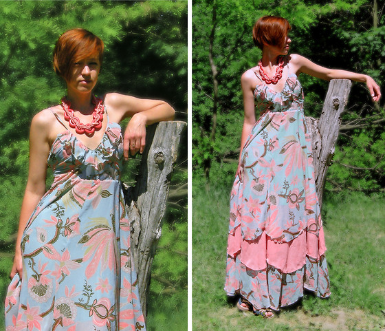 "Galina ""Mossska"" Pokhyla - H&M Dress, Marks&Spenser Sandals, Ebay Coral Wood Necklace - #13 Do we need a little pink"