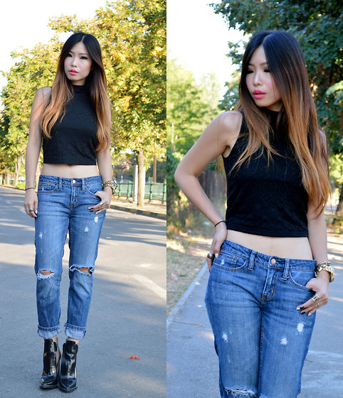 Cassandra Y. Liu - Stradivarius Cropped Top - Cropped and Jeans