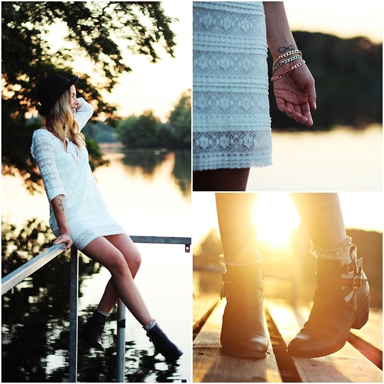 Herz über Kopf - H&M Lace Dress, Deichmann Shoes - Sun goes down...