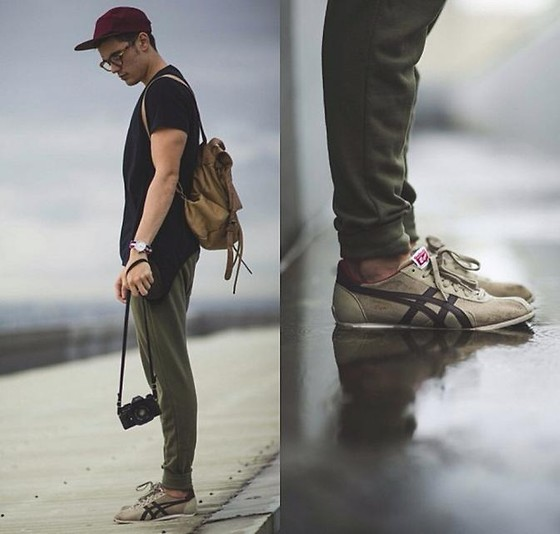 clearance sale exclusive shoes superior quality Robbie Becroft - Onitsuka Sneakers, H&M Sweatpants, Asos Cap ...