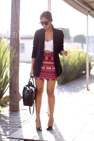 Génesis Serapio - Bershka Blazer, Zara Skirt, Zara Bag, Zara Pumps - Come & get it