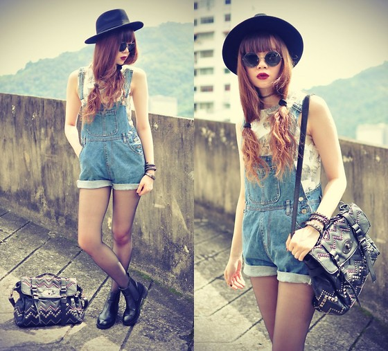 Tess Lively - Sheinside Top, Fash Allure Dungarees, Chic Wish Bag - I'll be around