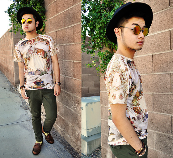 Shawn C. - Choies Oil Painting Shirt, Choies Round Lens Sunglasses - Judgement Day