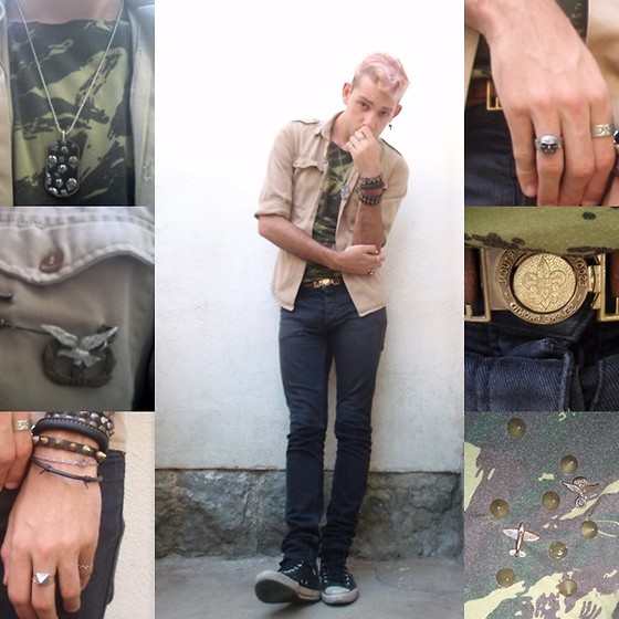 Andrew Saints - Scouts Belt, Scouts Shirt, Diy Military Brooch, Piramid Ring, Diy Military Shirt, Diy Skull Ring - Lost the Battle,Win the war
