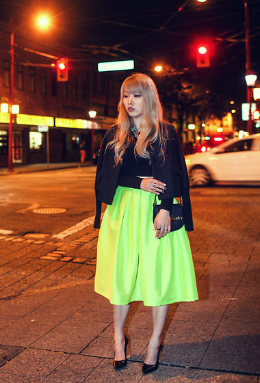 Ivy Xu - Choies Skirt - Glow in the dark