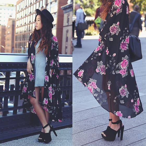 Judy L - Forever 21 Kimono Jacket, Zara Platforms, Brandy Melville Usa Dress - Manhattan