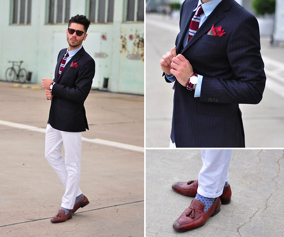 Lukas Maslowski - H&M Jacket, H&M Trousers, Zara Loafers, Triwa Watch, Pocket Square - #29