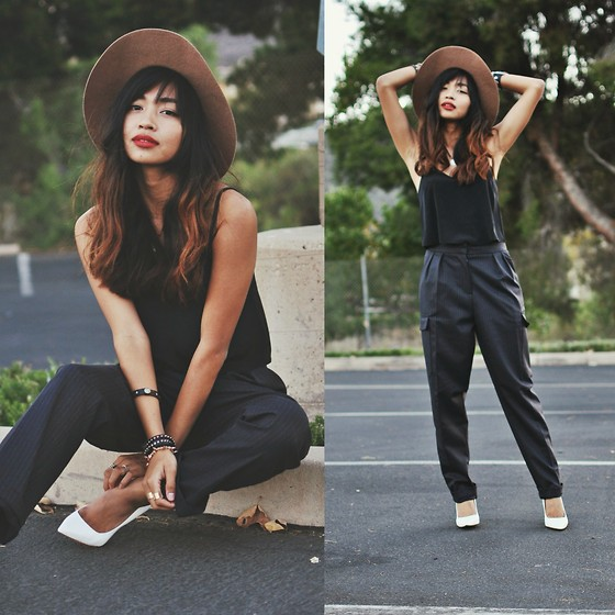 Heliely Bermudez - Asos Cropped Cami, Asos Pinstriped Trousers - Keepin' It Baggy