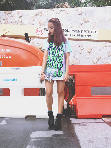 Leah S - Drop Dead Eat Shit And, Unif Cross Trainers - I live for the high till I'm free falling