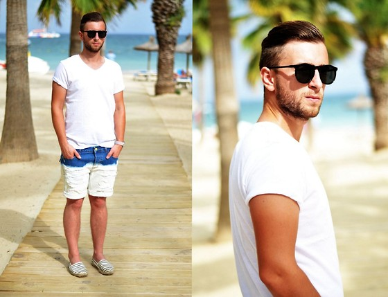 Michal Portka - Pull & Bear T Shirt, Zara Shorts, River Island Shoes - By the sea