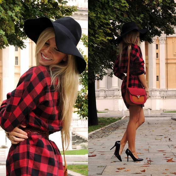 Eleonora Petrella - Frontrowshop Frontorowshop Checked Dress - Checked fall in Turin