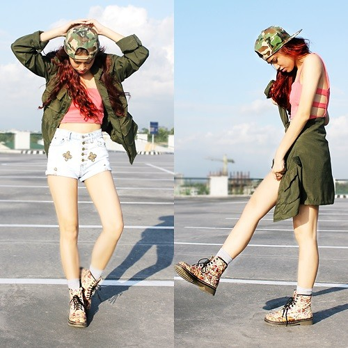Jennica Sanchez - Trunk Walk Ph Cut Out Midrib, Trunk Walk Ph Camou Snapback - Out of my limit