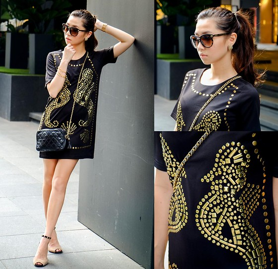 Kryz Uy - Ministry Of Retail Dress, Jimmy Choo Sunnies - Singapore Day 1