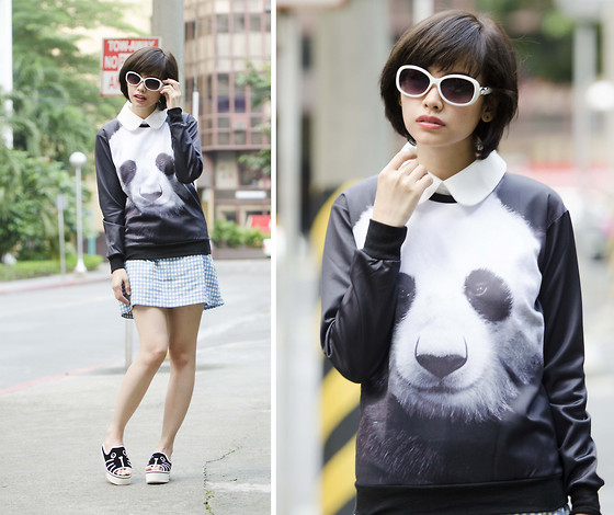 Bea Benedicto - Princess Bubblegum Shades, Angel Strings Collared Dress, Tnc Manila Panda Sweater, Rated Paola Germar Puppy Flatforms - Asian Me