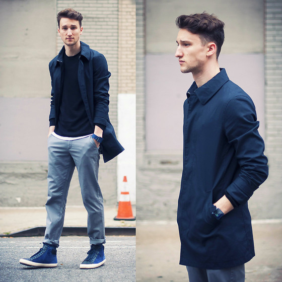 Marcel Floruss - Nooka Watch, Armani Exchange Chinos, Camper Sneakers, Zara Trench, Michael Kors Knit Sweater - Orange Cone