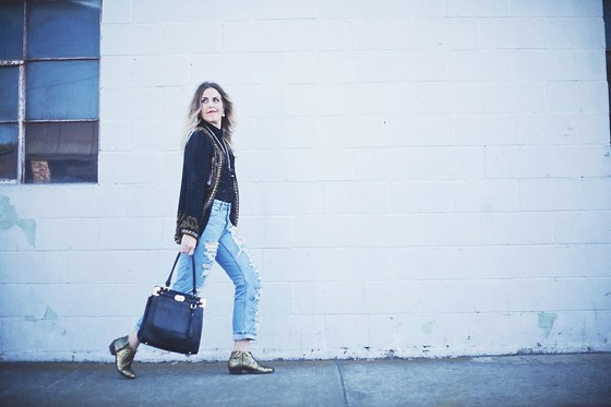 Beth Jones - Justfab Bag, Very Volitale Gold Boots - The Archives