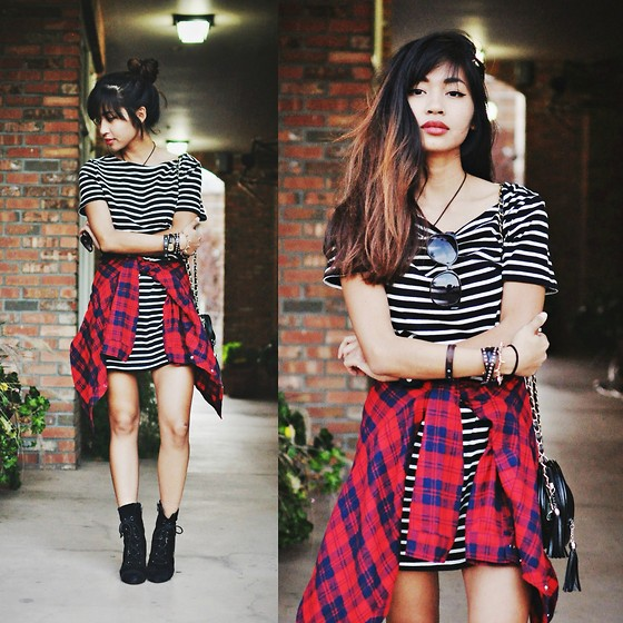 Heliely Bermudez - Forever 21 Stripe Dress - Stripes&Plaids