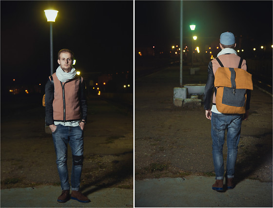 Adrian Vele - Adrian Vele Coat, Adrian Vele Backpack, Adrian Vele Shoes - Lights will guide you home