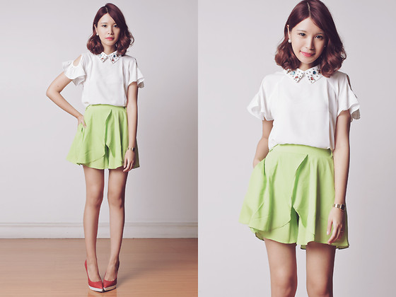Tricia Gosingtian - Chic Wish Shorts, Chic Wish Top, Woakao Heels - 102413