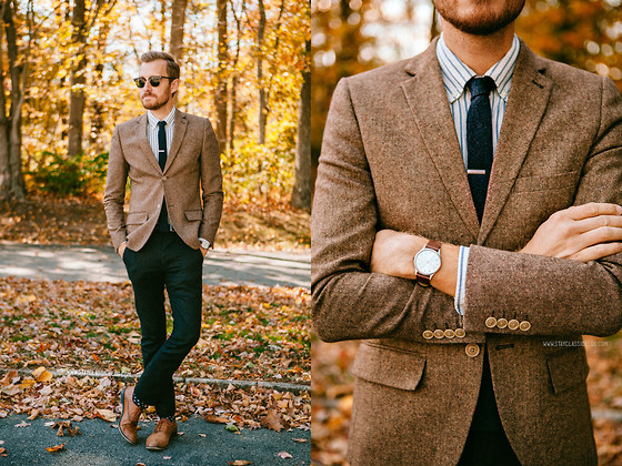 Stay Classic - Oak Shirt, Banana Republic Hyde Oxford, Wdny Tie, Ray Ban Clubmasters, Asos Grandad Watch - October 26, 2013