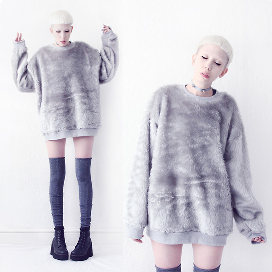 JENNY MUSTARD . - Somewhere Nowhere Faux Fur Sweater - Somewhere nowhere ~ vol. 2