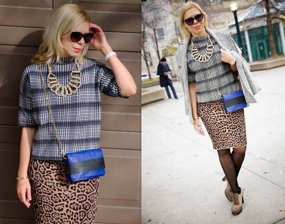 Liat Neuman - French Connection Uk Knit, Bcbg Skirt, Urban Outfitters Bag - Toronto fashion week- Day 3
