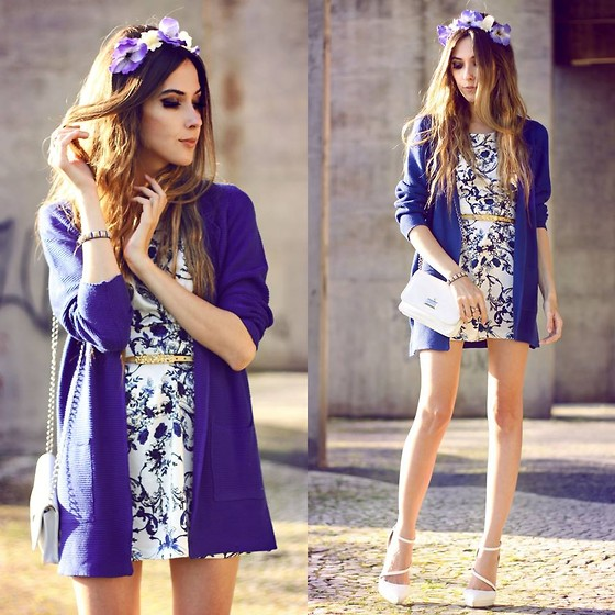 Flávia Desgranges van der Linden - Chamelle Dress, Romwe Cardigan - Look du jour: a shade of blue