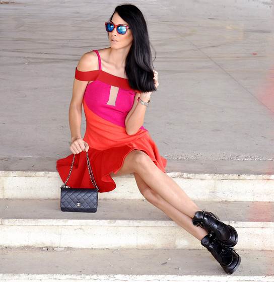 Konstantina Tzagaraki - Dress, Chanel Purse, Cut Out Booties, Sunglasses - Dreams never have bad endings..