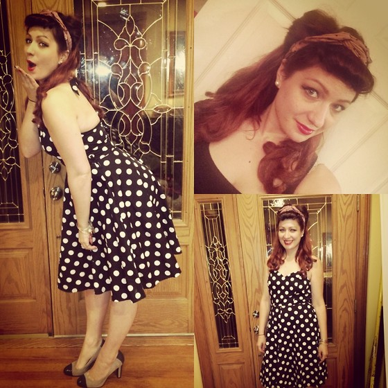 Monika S - Modcloth Headband, Unkown Dress, Ralph Lauren Pumps - Pinup