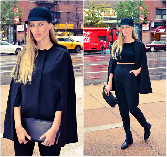 Karolina Antoniades - Zara Shoes, Zara Pants, H&M Cape, Zara Had - GOTHAM CITY GIRL