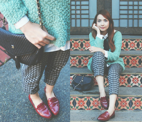 Bestie K - Sweater, Trousers, Loafers - All these holes in my shoes from chasing everything i love