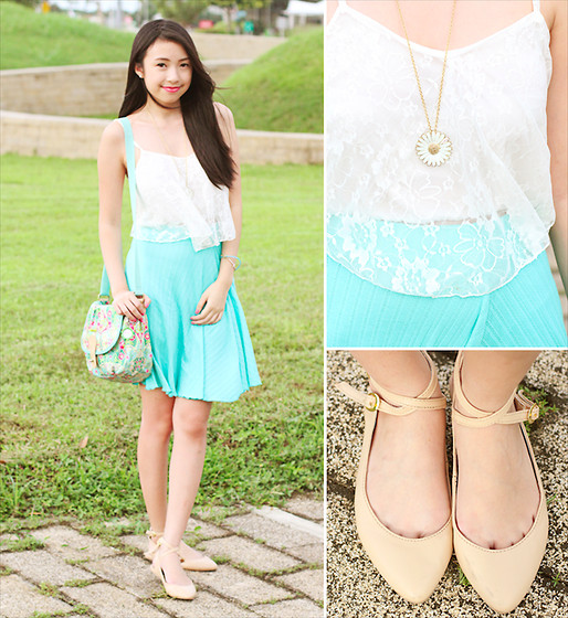 Sophie Ramos - Break The Trend Mnl Lace Top, Oilily Floral Bag - Sunflower