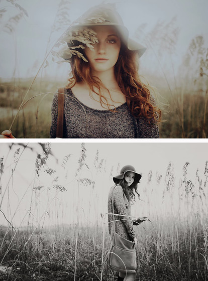 Esther Boller - Free People Sweater Dress, Unknown Floppy Hat, Suede Bag - She's morphine, queen of my vaccine