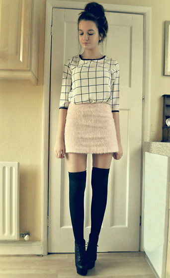 Imogen De Souza - Blouse, Topshop Skirt - November <3