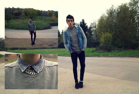 Melik D - Zara Triangle Shirt, Underground Creepers, Topman Denim Washed - Ain't worried 'bout nothin'