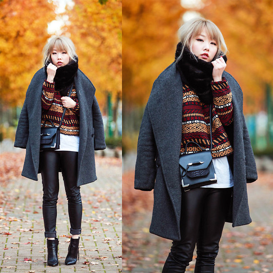 Ivy Xu - Jnby Coat, Zara Sweater, House Of Package Bag, Sam Edelman Boots - KEEP YOU WARM